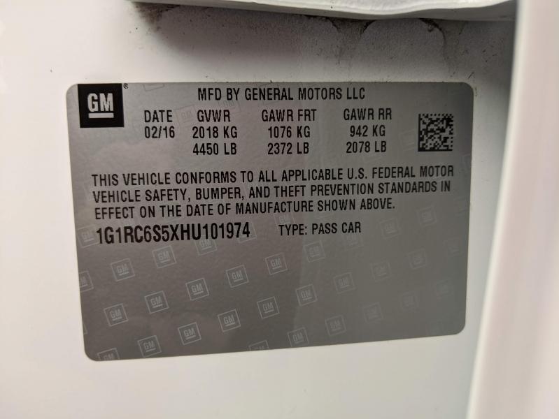 Chevrolet Volt 2017 price $14,695