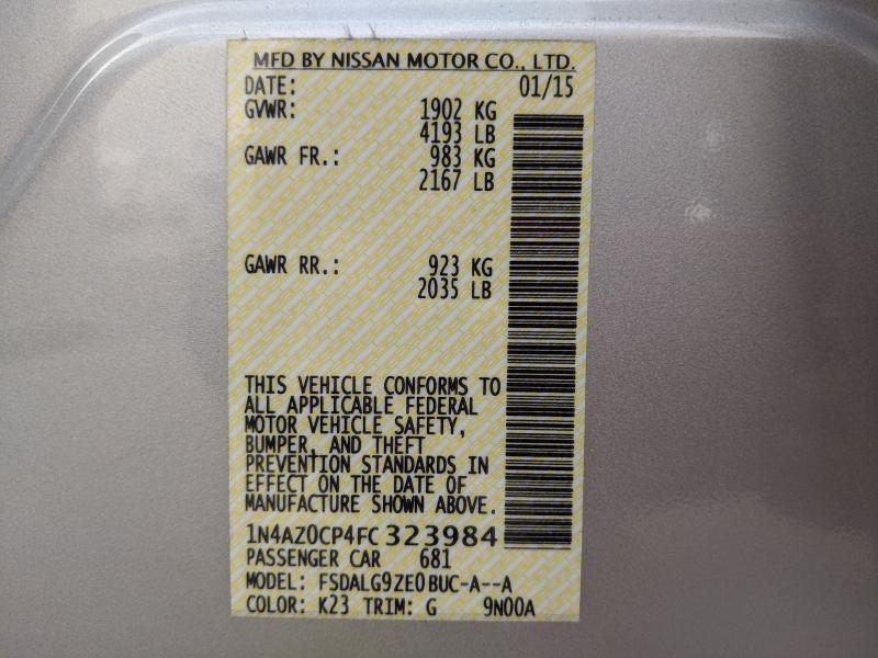 Nissan LEAF 2015 price $11,895