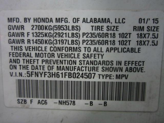 Honda Pilot 2015 price $15,198