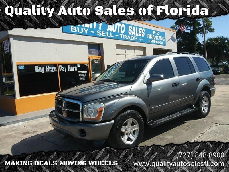 2004 dodge durango slt 4dr suv quality auto sales of florida auto dealership in new port richey quality auto sales of florida