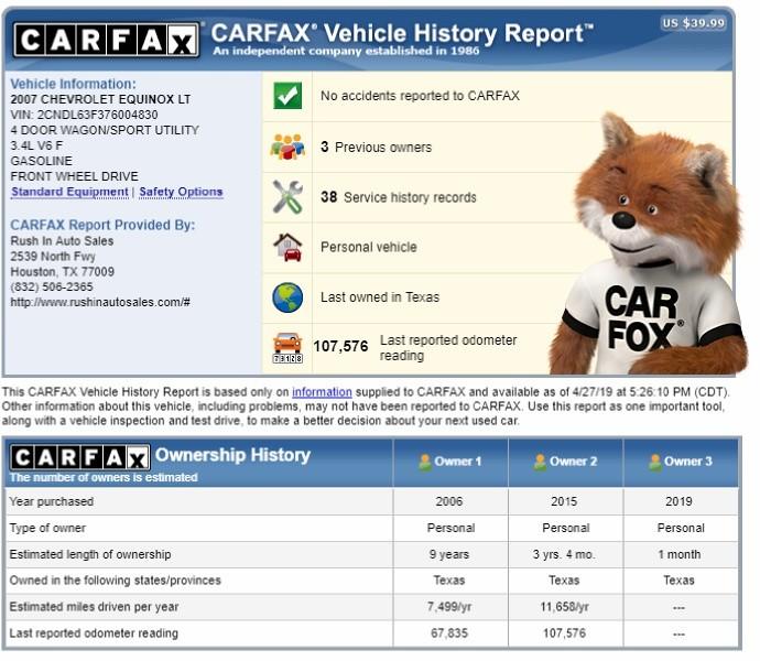 Chevrolet Equinox 2007 price $4,650