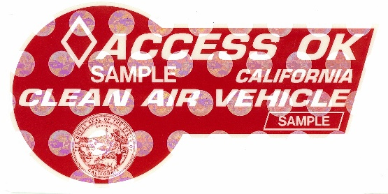Red Carpool Sticker