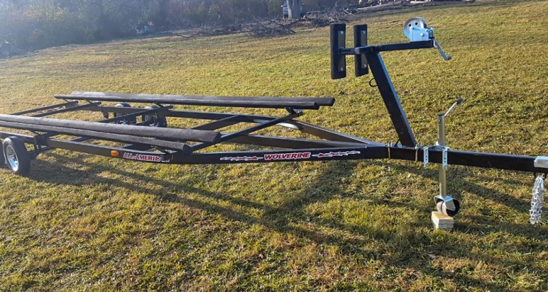 24 Foot Wolverine Pontoon Trailer All American Bunk Painted 2019 price Call Us