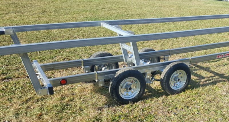 Wolverine 26 Foot Pontoon Trailer All Pro Galvanized Tandem Crank Up 2019 price Call Us