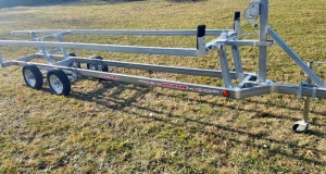 Wolverine 26 Foot Pontoon Trailer All Pro Galvanized Tandem Crank Up 2018