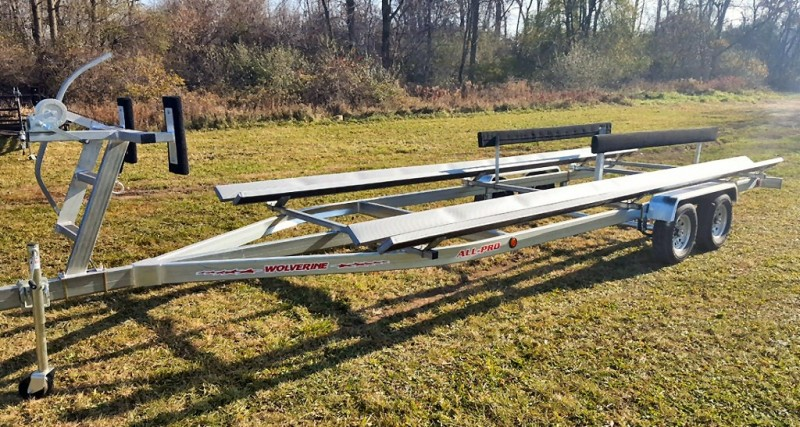 Wolverine 28 Foot Pontoon Trailer All Pro Galvanized Tandem Bunk 2019 price Call Us
