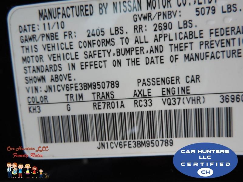 INFINITI G37 2011 price $12,790