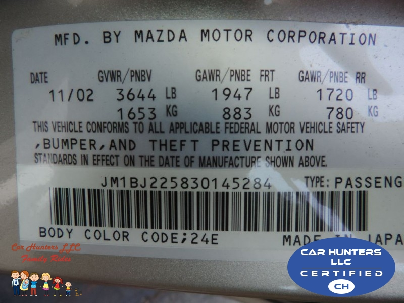 MAZDA PROTEGE 2003 price $5,475