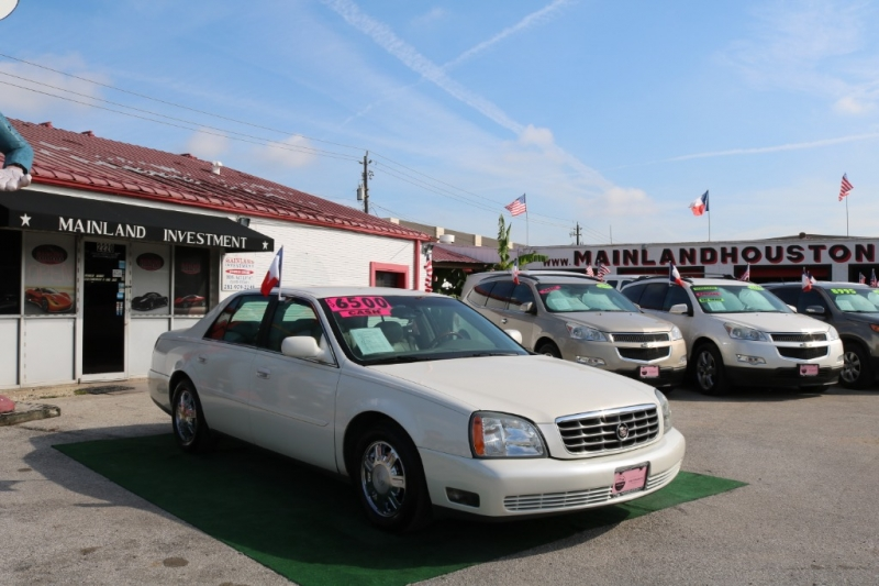 2003 cadillac deville 4dr sdn dhs mainland investment auto sales dealership in houston 2003 cadillac deville 4dr sdn dhs