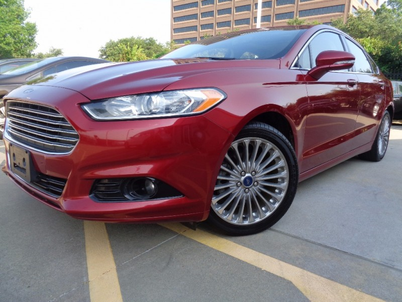2015 Ford Fusion Titanium Ruby Red Low 31k Miles Dont Miss