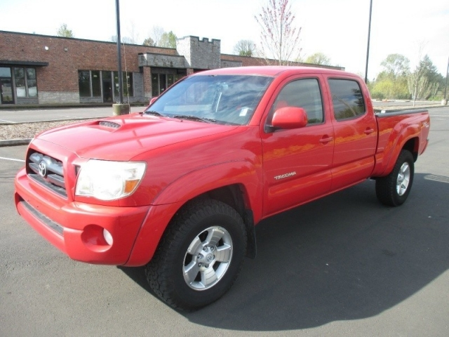 2005 toyota tacoma double cab 4x4 red 62 service records