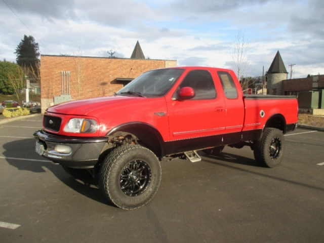 Ford Truck Cab Styles >> 1997 Ford F-150 Supercab XLT 4X4 LIFTED *RED* MAGS* SUPER SHARP !!! - VOLSTICE AUTO | Auto ...