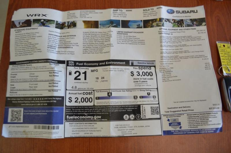 SUBARU WRX 2017 price $22,995