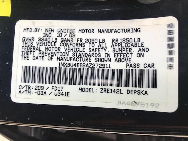 Toyota Corolla 2010 price $4,299