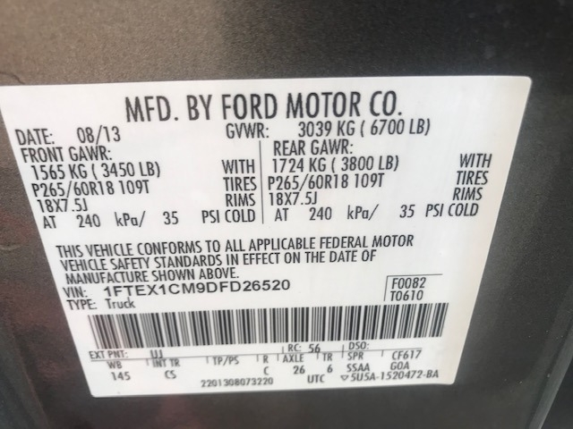 Ford F-150 2013 price $11,299