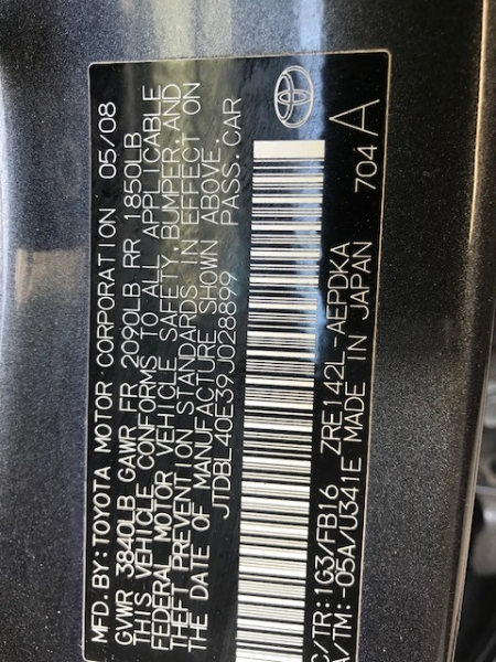 Toyota Corolla 2009 price $5,299