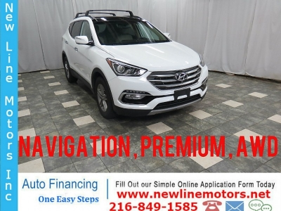 2017 Hyundai Santa Fe Sport AWD 2.4L Premium Navigation Leather Seats