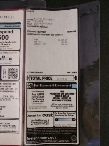 Fiat 124 Spider 2018 price $25,991
