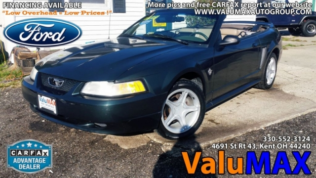 1999 Ford Mustang 2dr Convertible Gt Inventory Valumax Auto