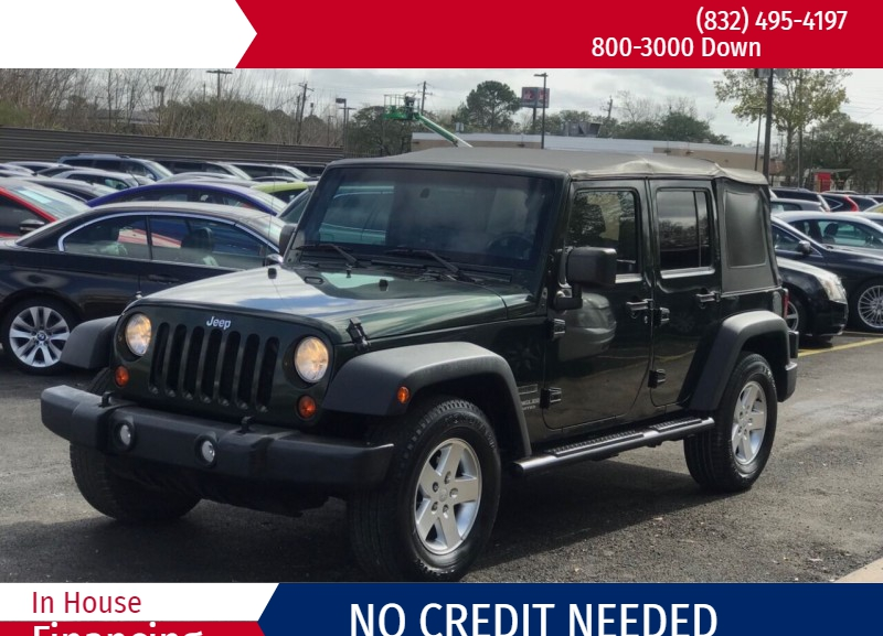 Jeep Wrangler Unlimited 2010 price $3,500