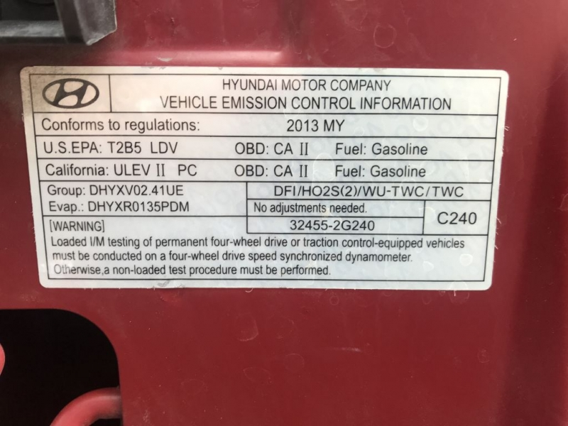Hyundai SANTA FE SPORT 2013 price $10,000