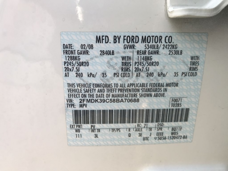 Ford Edge 2008 price $5,000