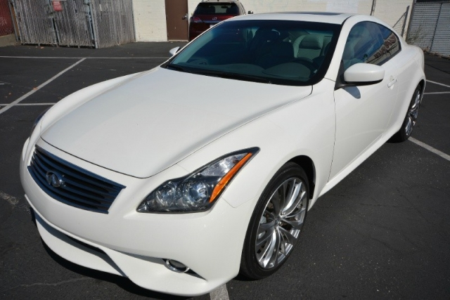 2012 Infiniti G37 S Coupe Low 33k Miles In White Loaded Clear Bra