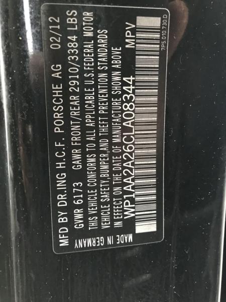 PORSCHE CAYENNE 2012 price $25,999