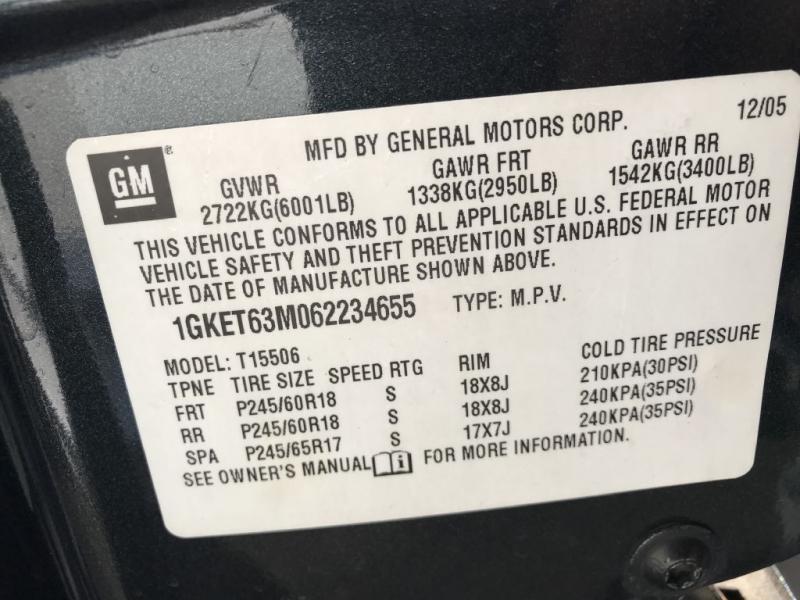 GMC ENVOY 2006 price $3,750