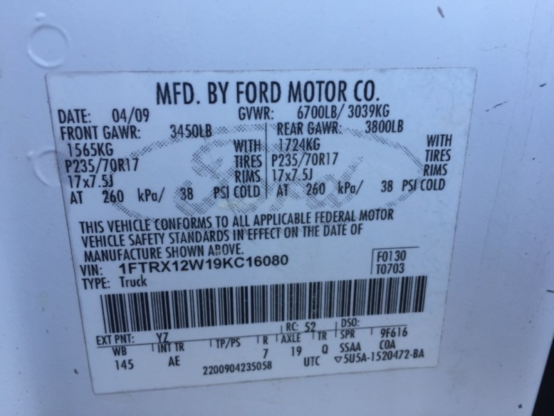 Ford F-150 2009 price $6,000
