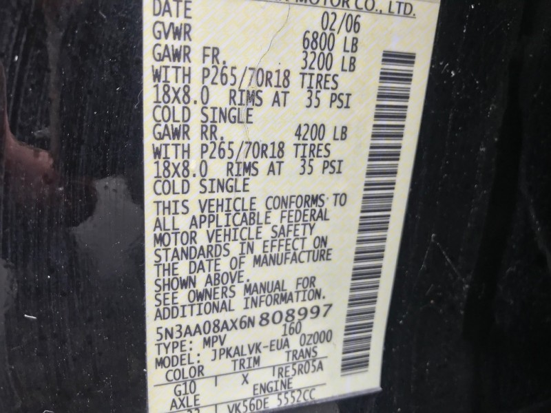 Infiniti QX56 2006 price $8,991