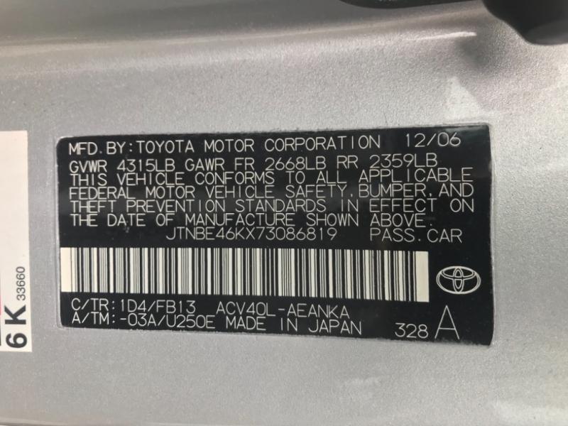 Toyota Camry 2007 price $4,750