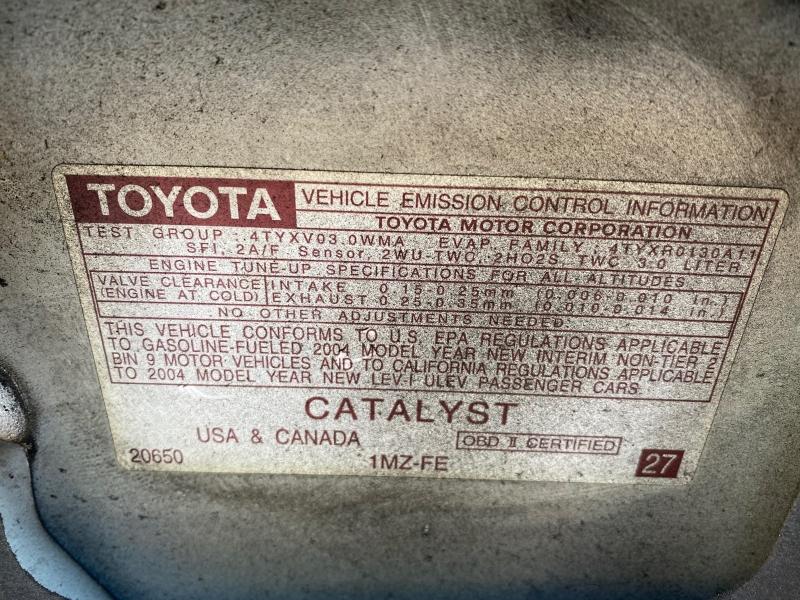 Toyota Camry 2004 price $3,688