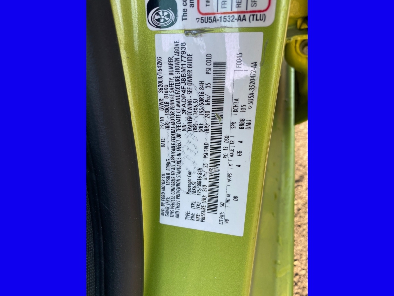 Ford Fiesta 2011 price $4,695