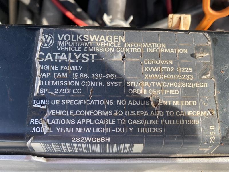 Volkswagen EuroVan 1999 price $8,995