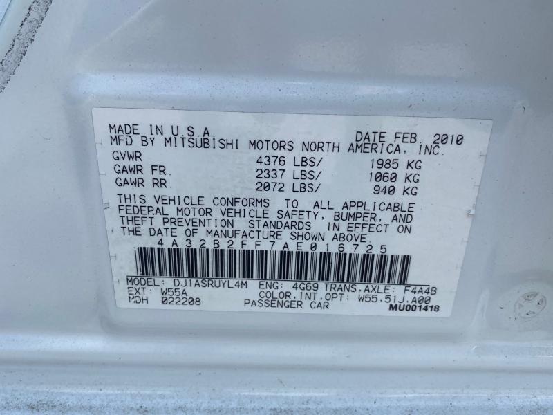 Mitsubishi Galant 2010 price $5,700