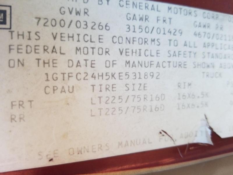GMC 3/4 Ton Pickups 1989 price $4,995