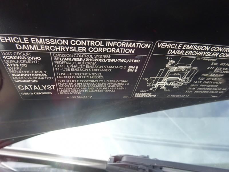 Chrysler Crossfire 2004 price $4,295