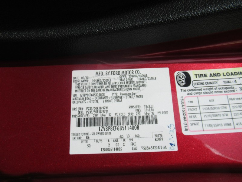Ford Mustang 2011 price $11,895