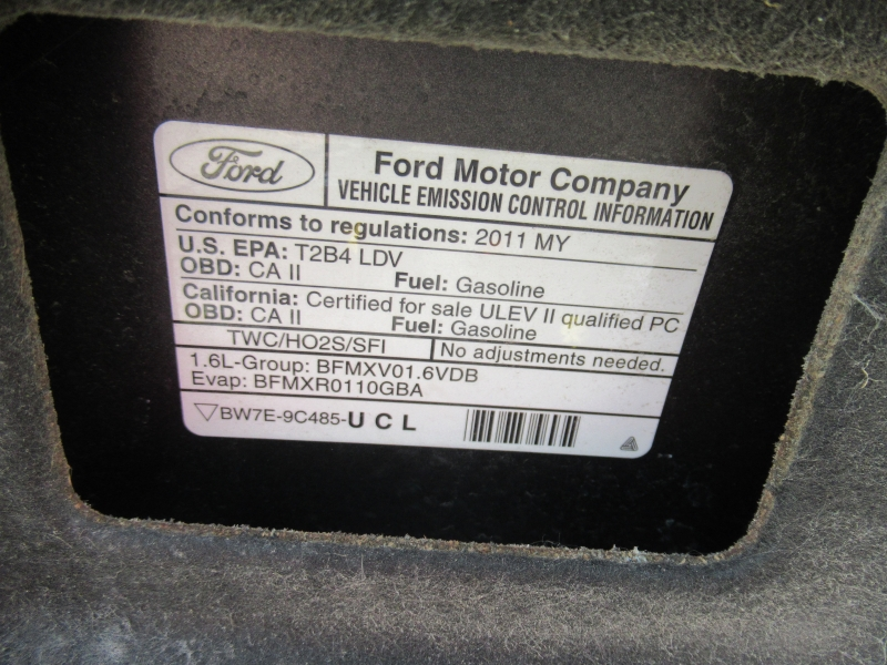 Ford Fiesta 2011 price $3,795