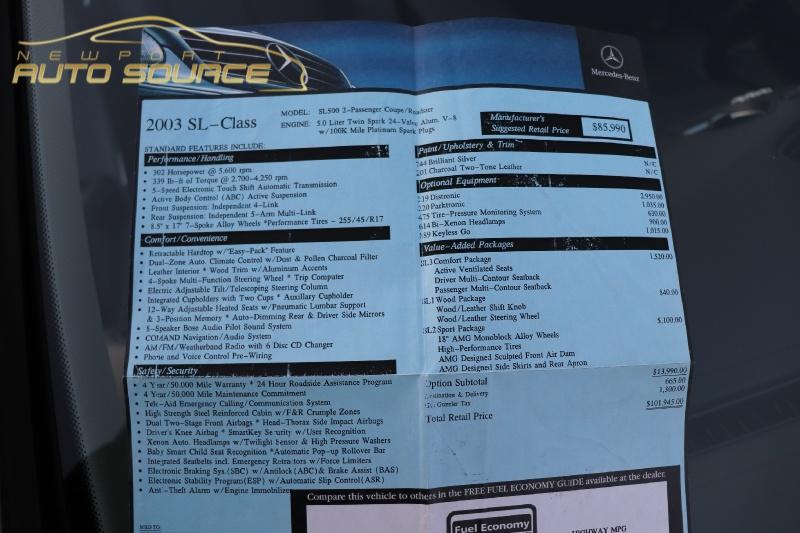 Mercedes-Benz SL-Class 2003 price $17,488