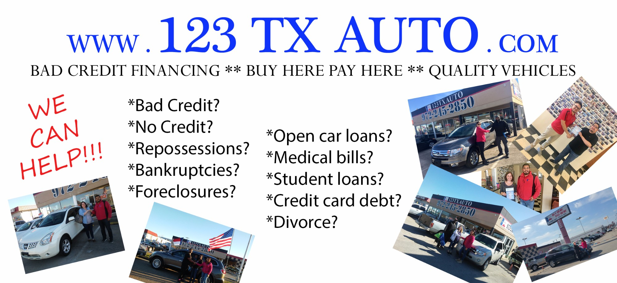 123 tx auto best bad credit car sales in dallas texas for Boykin motors buy here pay here