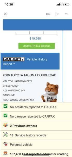 Toyota Tacoma 2008 price $17,495