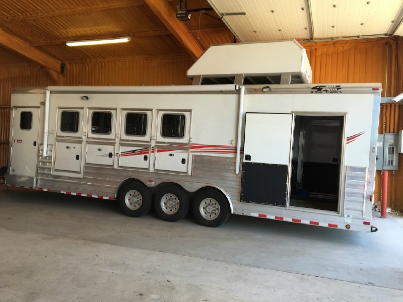 4-Star 4 Horse Reverse Load BP Trailer with Cargo  2011 price $55,000