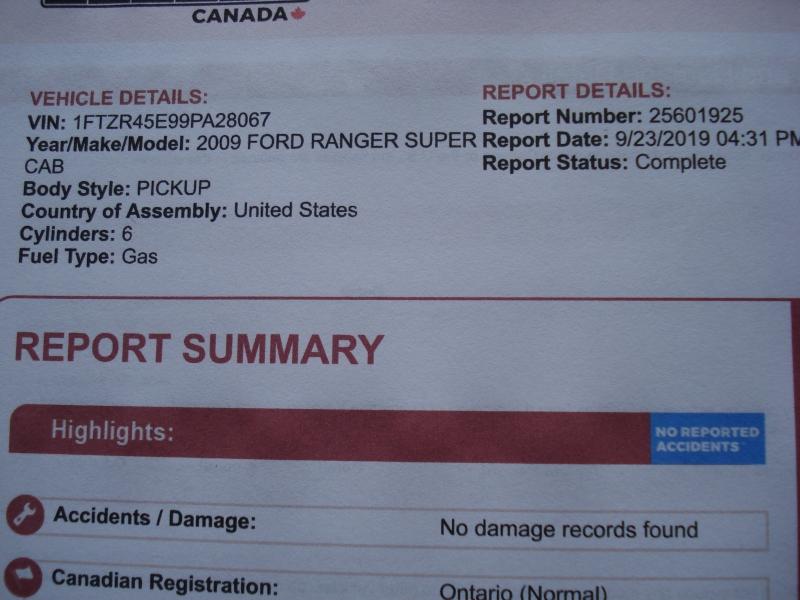 Ford Ranger 2009 price $8,990