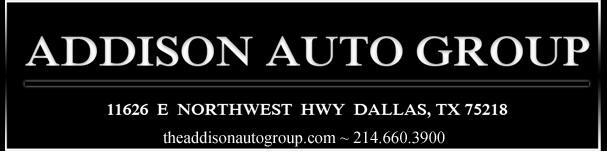 Addison Auto Group. (214) 660-3900