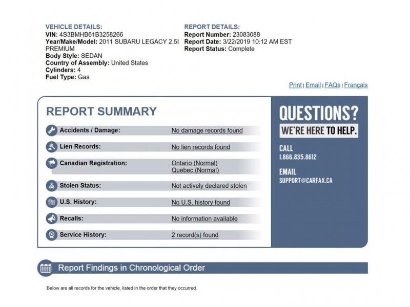 Subaru Legacy 2011 price $7,800