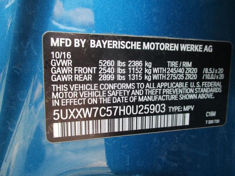 BMW X4 M3 PKG 2017 price $36,950