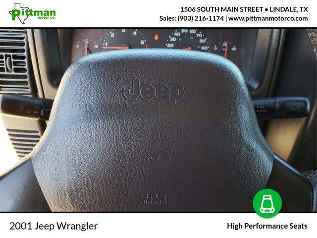 Jeep Wrangler 2001 price $10,975