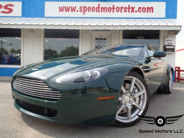 ASTON MARTIN VANTAGE V L SPEED CARFAX CERTIFIED LOW - Aston martin dealership texas